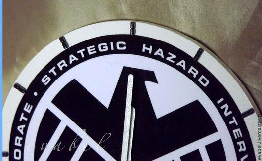 Часы для дома ручной работы. Ярмарка Мастеров - ручная работа. Купить часы S.H.I.E.L.D.-Щ.И.Т.. Handmade.