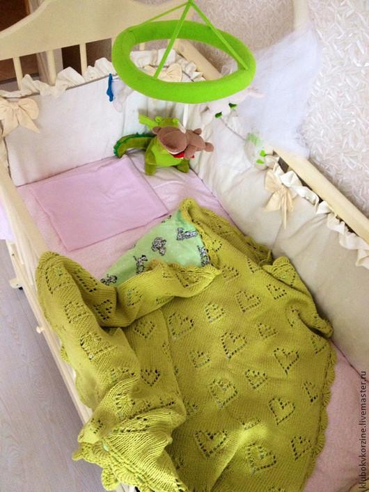 Пледы и одеяла ручной работы. Ярмарка Мастеров - ручная работа. Купить Детский плед. Handmade. Зеленый, плед для малыша, фланель