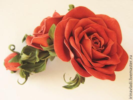 браслет из кожи, кожаный браслет, браслет с цветами, цветы из кожи, розы, красные розы с бутонами, розы из кожи, кожаная роза, украшения из кожи, браслет из кожи с цветами,  женский браслет из кожи