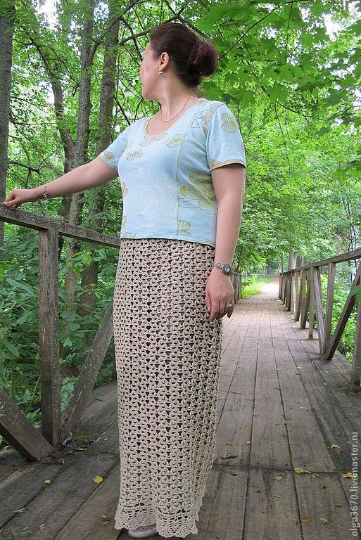 Крючок юбка ленточное вязание