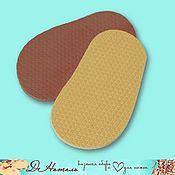 Материалы для творчества handmade. Livemaster - original item Evapor sole for Slippers; beige, brown, blue, grey, black. Handmade.