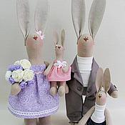 """Куклы и игрушки ручной работы. Ярмарка Мастеров - ручная работа Пасхальные Зайцы Тильда """" Наша семья"""". Handmade."""