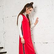 """Одежда ручной работы. Ярмарка Мастеров - ручная работа Платье жилет """"Мундир красного генерала"""". Handmade."""