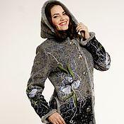 """Пальто ручной работы. Ярмарка Мастеров - ручная работа Теплая куртка и теплая юбка """"Снежный ирис"""""""". Handmade."""