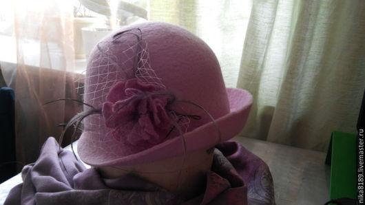 Шляпы ручной работы. Ярмарка Мастеров - ручная работа. Купить Шляпка с полями. Handmade. Шляпа с полями, шляпка из войлока