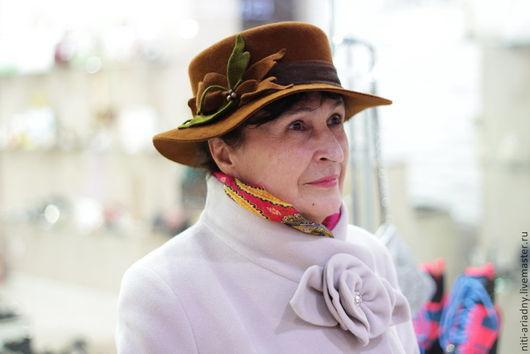 Шляпы ручной работы. Ярмарка Мастеров - ручная работа. Купить Шляпа женская с полями. Handmade. Рыжий, шляпа, листья