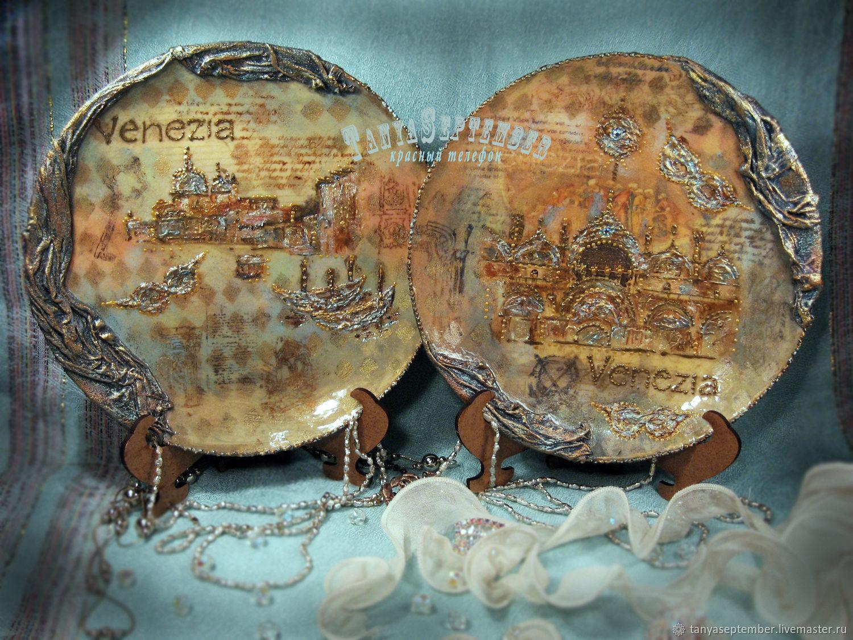 Set of plates ENCHANTMENT of VENICE (2 PCs), Plates, Moscow,  Фото №1