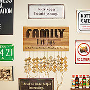 Для дома и интерьера handmade. Livemaster - original item The birthday calendar of oak. Handmade.