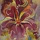 """Картины цветов ручной работы. Ярмарка Мастеров - ручная работа. Купить Картина-миниатюра """"Сумерки"""". Handmade. Фиолетовый, мечты"""