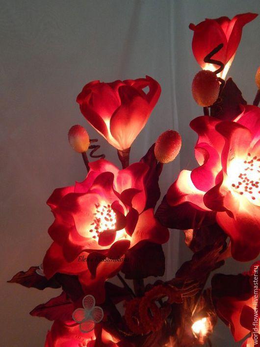 """Освещение ручной работы. Ярмарка Мастеров - ручная работа. Купить Букет-светильник  """"Кармен"""". Handmade. Цветы ручной работы, богатство"""