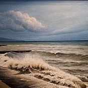 Картины и панно handmade. Livemaster - original item The author`s picture of a Storm off the coast of Sochi. Handmade.
