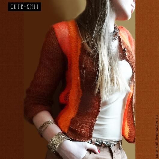 Чтобы лучше рассмотреть модель, нажмите на фото CUTE-KNIT Ната Онипченко Ярмарка мастеров Купить короткий жакет вязаный
