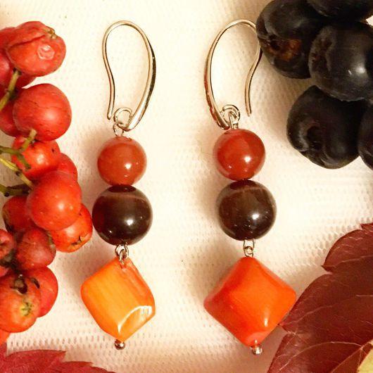 Серьги ручной работы. Ярмарка Мастеров - ручная работа. Купить Серьги с натуральными камешками. Handmade. Натуральные камни, серьги