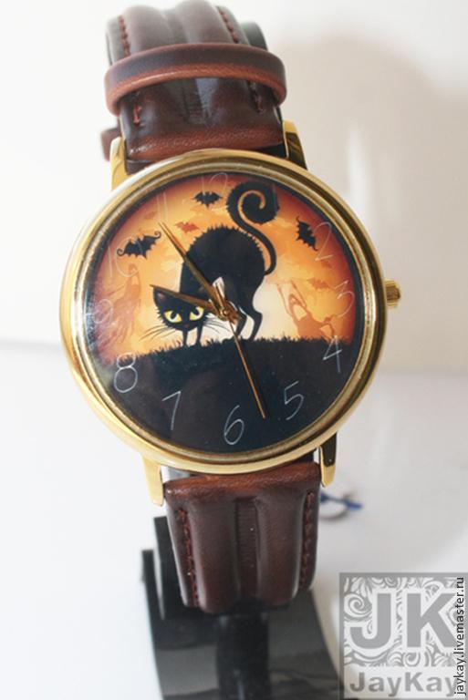 """Часы ручной работы. Ярмарка Мастеров - ручная работа. Купить Часы наручные JK """"Хэллоуин"""". Handmade. Наручные часы в подарок"""