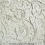 Дизайн и реклама ручной работы. Ярмарка Мастеров - ручная работа Фрескорельеф.Элитная отделка стен.Цветочный мотив 1. Handmade.
