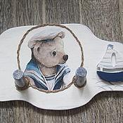 Для дома и интерьера ручной работы. Ярмарка Мастеров - ручная работа Вешалка для детской комнаты «Морячок». Handmade.