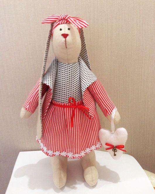 Куклы Тильды ручной работы. Ярмарка Мастеров - ручная работа. Купить Кролик Тильда. Handmade. Кролик ТИЛЬДА, коралловый, холофайбер