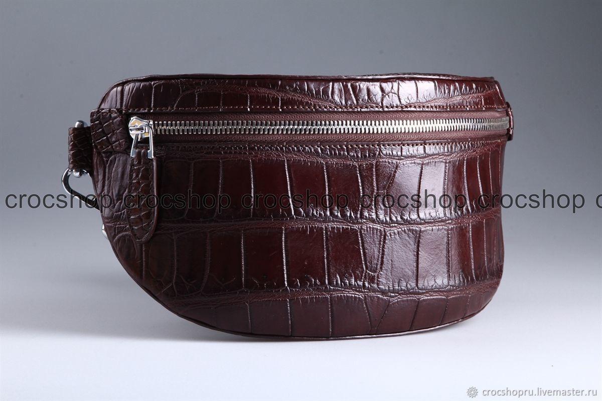Cross-body or crocodile waist bag, unisex IMA0501VK4, Waist Bag, Moscow,  Фото №1