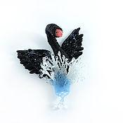 """Украшения ручной работы. Ярмарка Мастеров - ручная работа Брошь """"Чёрный лебедь"""". Handmade."""
