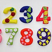 Куклы и игрушки ручной работы. Ярмарка Мастеров - ручная работа Цифры из фетра (Авторская работа!!!). Handmade.
