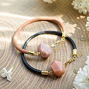 Украшения handmade. Livemaster - original item Bracelet with sun stone, heliolite. Handmade.