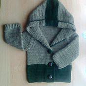 Работы для детей, ручной работы. Ярмарка Мастеров - ручная работа Кофта с капюшонам. Handmade.