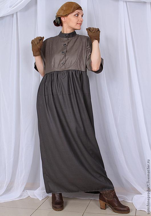 """Платья ручной работы. Ярмарка Мастеров - ручная работа. Купить Платье """"Повтор подиумной модели Kenzo"""". Handmade. Темно-серый"""