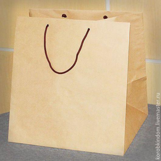 Упаковка ручной работы. Ярмарка Мастеров - ручная работа. Купить Крафт-пакет 35х36х30 с ручками веревочными. Handmade. Пакет