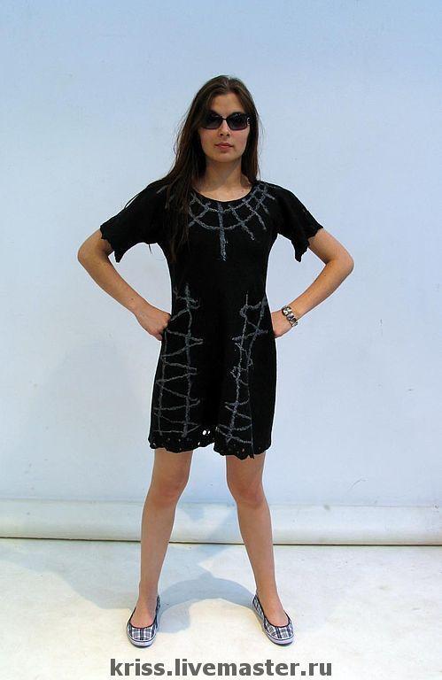 Платья ручной работы. Ярмарка Мастеров - ручная работа. Купить платье Возможность. Handmade. Валяное платье, Валяние, единственный экземпляр