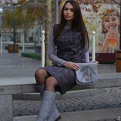 Обувь ручной работы handmade. Livemaster - original item Kit Dress, Boots, Bag felted Moonlight 2. Handmade.