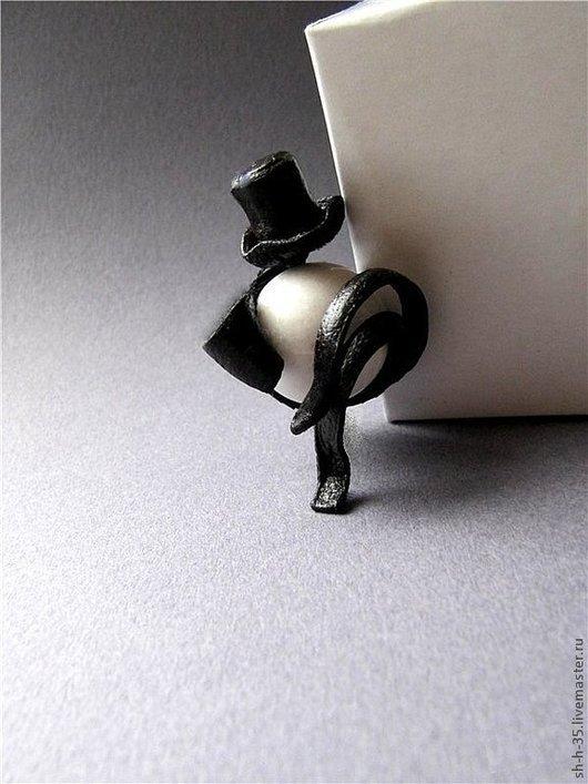 """Кольца ручной работы. Ярмарка Мастеров - ручная работа. Купить Кольцо """"Приглашение в театр"""". Handmade. Чёрно-белый, стильное кольцо"""