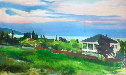 Абхазия. Тихий вечер работа Ольги Петровской-Петовраджи
