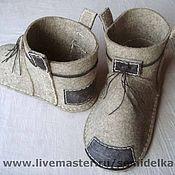 """Обувь ручной работы. Ярмарка Мастеров - ручная работа валенки. Модель """"уДачные"""". Handmade."""