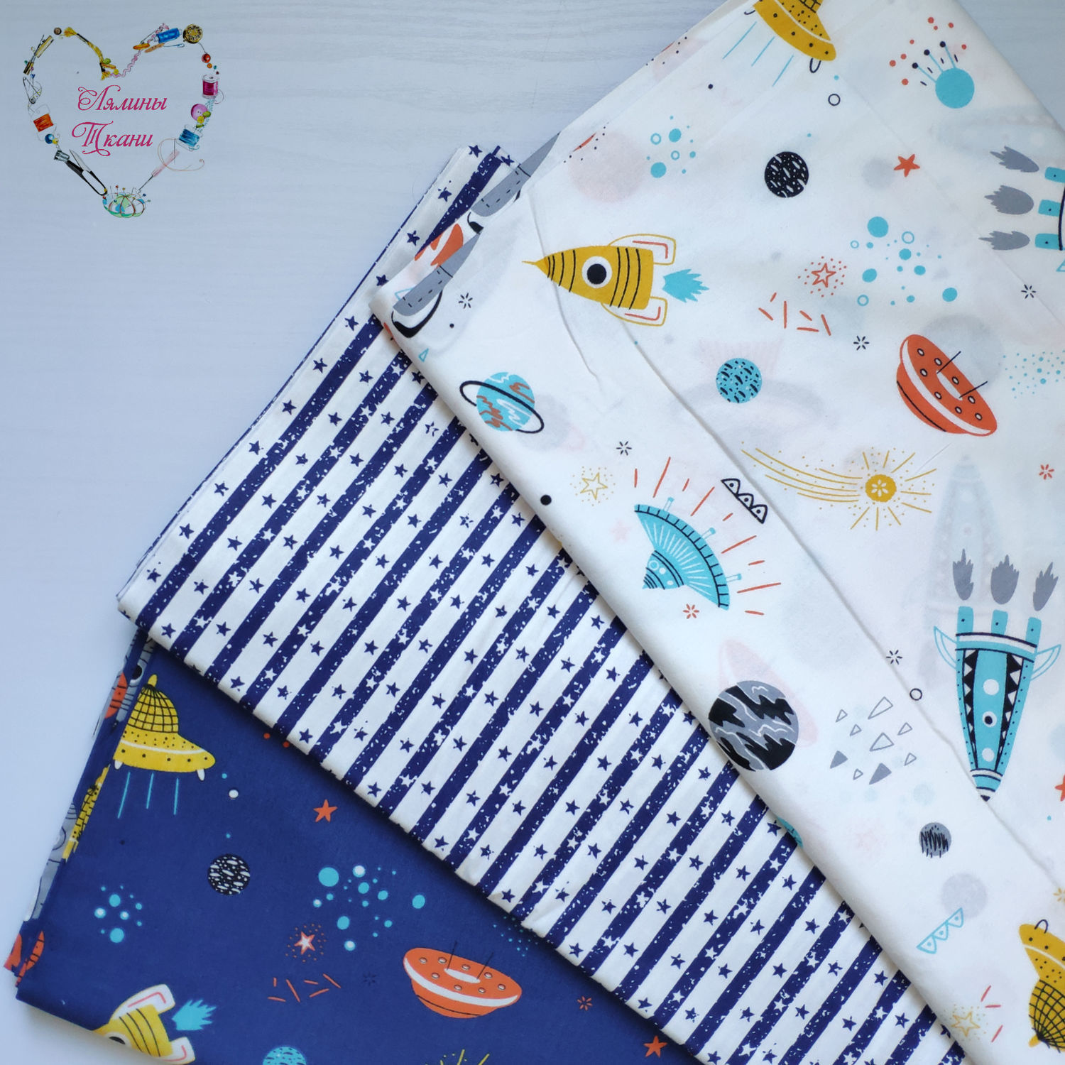 Fabrics China satin cotton Moscow space rocket, Fabric, Moscow,  Фото №1