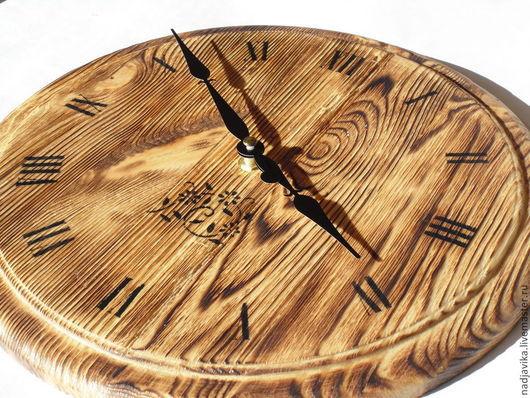 """Часы для дома ручной работы. Ярмарка Мастеров - ручная работа. Купить Часы настенные """"Теплое дерево"""". Handmade. Часы настенные"""