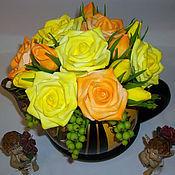 Цветы и флористика ручной работы. Ярмарка Мастеров - ручная работа Розы в чайничке. Handmade.