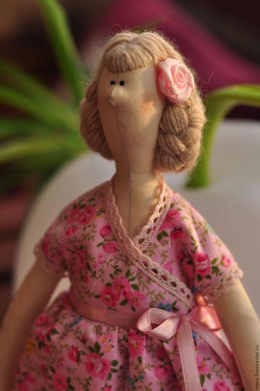 Куклы Тильды ручной работы. Ярмарка Мастеров - ручная работа. Купить Мадама. Handmade. Розовый, хлопок