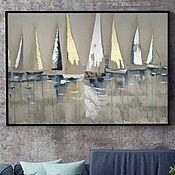 Картины и панно handmade. Livemaster - original item Interior painting Sailboats. Handmade.