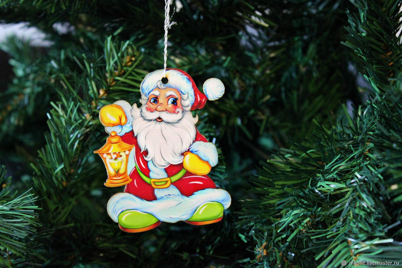 Новогодняя игрушка на елку. Санта Клаус, Елочные игрушки, Шахты,  Фото №1