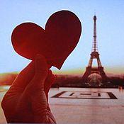 """Для дома и интерьера ручной работы. Ярмарка Мастеров - ручная работа Магнитная доска """"Мое сердце в Париже"""". Handmade."""