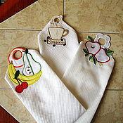 Для дома и интерьера ручной работы. Ярмарка Мастеров - ручная работа Кухонные полотенца с петельками. Handmade.