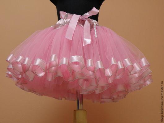 Одежда для девочек, ручной работы. Ярмарка Мастеров - ручная работа. Купить Юбочка пышная фатиновая для принцессы. Handmade. Розовый