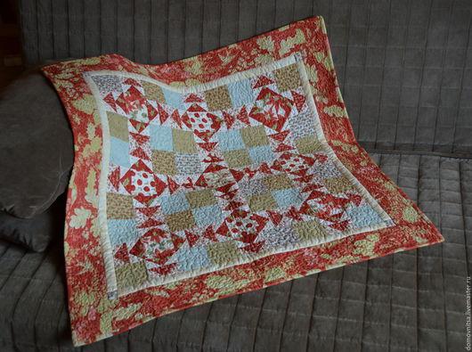 Текстиль, ковры ручной работы. Ярмарка Мастеров - ручная работа. Купить Квилт Морозное утро. Handmade. Ярко-красный