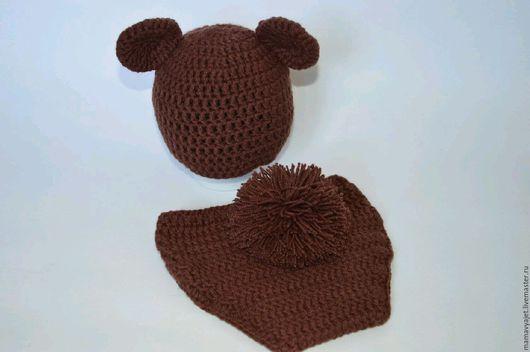 Для новорожденных, ручной работы. Ярмарка Мастеров - ручная работа. Купить костюмчик медвежонок, комплект для фотосессии новорожденного. Handmade.