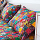 Motley 165x215sm traditional patchwork bedspread. Blankets. Quilter Elena Mazurova. Online shopping on My Livemaster.  Фото №2