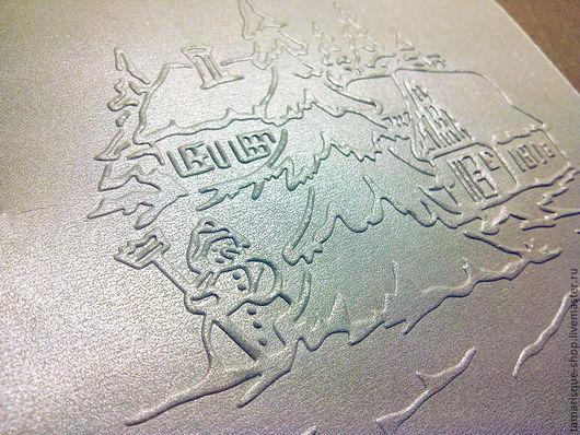 Открытки и скрапбукинг ручной работы. Ярмарка Мастеров - ручная работа. Купить Бумага с тиснением «Снеговик» 15х15 см, 280 гр. Handmade.