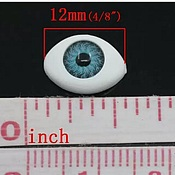 Материалы для творчества handmade. Livemaster - original item The convex doll eyes 12mm dark blue, pair. Handmade.
