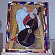 "Картина ""Ангел, играющий на контрабасе""\r\nСмешанная техника: витраж + мозаика\r\n\r\nРазмеры: 31x41 см.\r\nАвтор Екатерина Макарова"