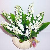 Цветы и флористика ручной работы. Ярмарка Мастеров - ручная работа Ландыши - моя керамическая флористика. Handmade.