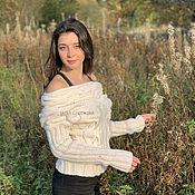 handmade. Livemaster - original item White wool sweater. Handmade.